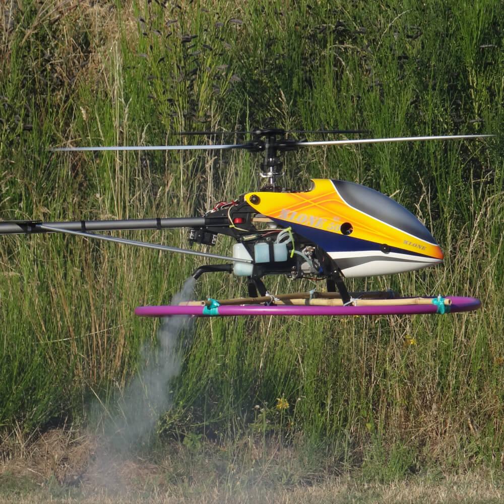 Hélicoptère thermique radiocommandé